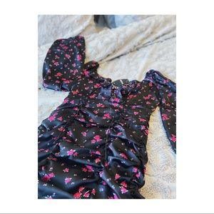 NWT Forever 21 Floral Print Ruffle Dress.
